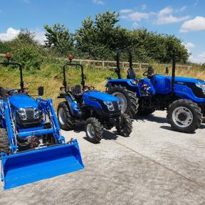 The Solis 26 4wd on Agri Super, Industrial & Turf Tyres & their Big Brothers the Solis 50 2wd & 4wd!