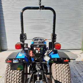 Solis 26 Compact Tractor on Turf Tyres- Back View