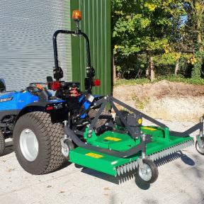 Solis 26 with 1.8m Finishing Mower with precision cutting height