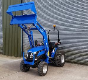 Solis 26 on Industrial Tyres with Solis 3200 Loader & 4in1 Bucket