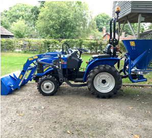 Solis 20 With Loader & Flail Mower