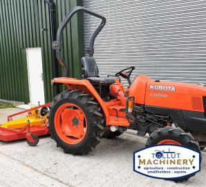Used Kubota L3200 33HP 4WD with 1.8m Teagle Grass Mower for sale in Dorset