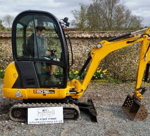 JCB 8018 CTS Mini Excavator Right View