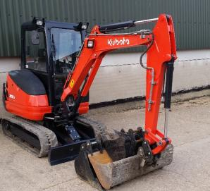 Kubota KX61-3 Front Right View