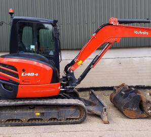 Kubota U48-4 Excavator-Right Side View