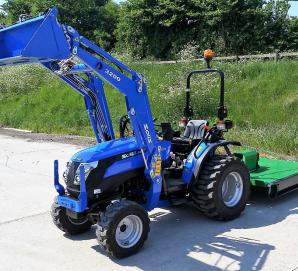 Solis 26 Tractor with Loader & Topper Mower
