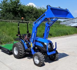 New Solis 26 Tractor with Loader & 1.4m Topper Grass Mower