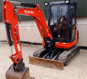 Kubota KX61-3 - main front left view
